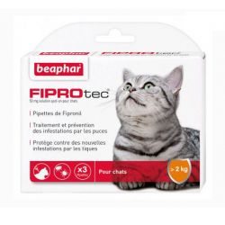 FIPROTEC 50mg Fipronil Spot-on Chat 6 Pipettes