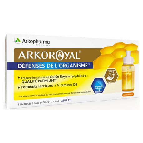 Arkopharma Arko Royal + Lactic lives D3 Unidoses Adults