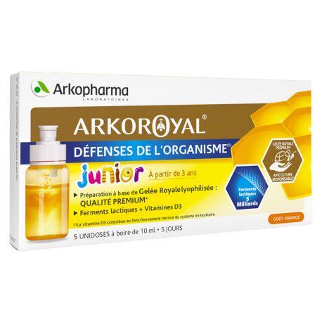 ArkoRoyal Enfant 7 unidoses de Gelée Royale Ferments Lactiques Vit D3
