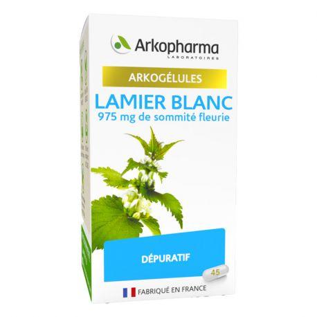 ARKOGELULES LAMIER BRANCO 45 cápsulas ARKOPHARMA