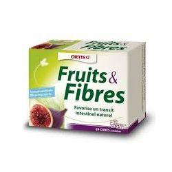 Fruits & fibres Ortis 24 cubes transit intestinal