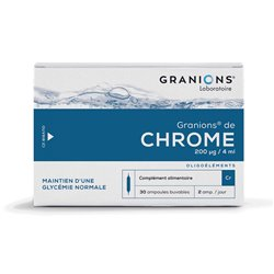 GRANIONS CHROME AMPOULES BUVABLES 2ML 30