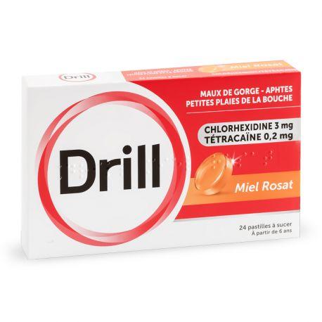 DRILL Miel Rosat PASTILLES SANS SUCRE 24