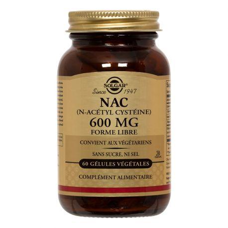SOLGAR NAC (N-Acetyl Cysteine) 600 mg 60 capsules