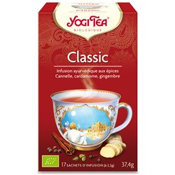 Yogi Tea Tisane classic cannelle Infusion Ayurvédique 17 infusettes