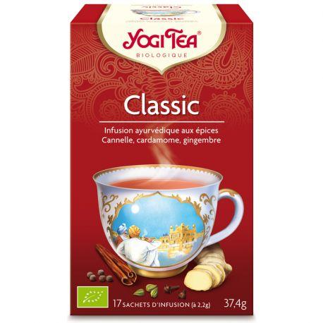 Yogi Tea Tisane classic cannelle Infusion Ayurvédique 17 infusettes