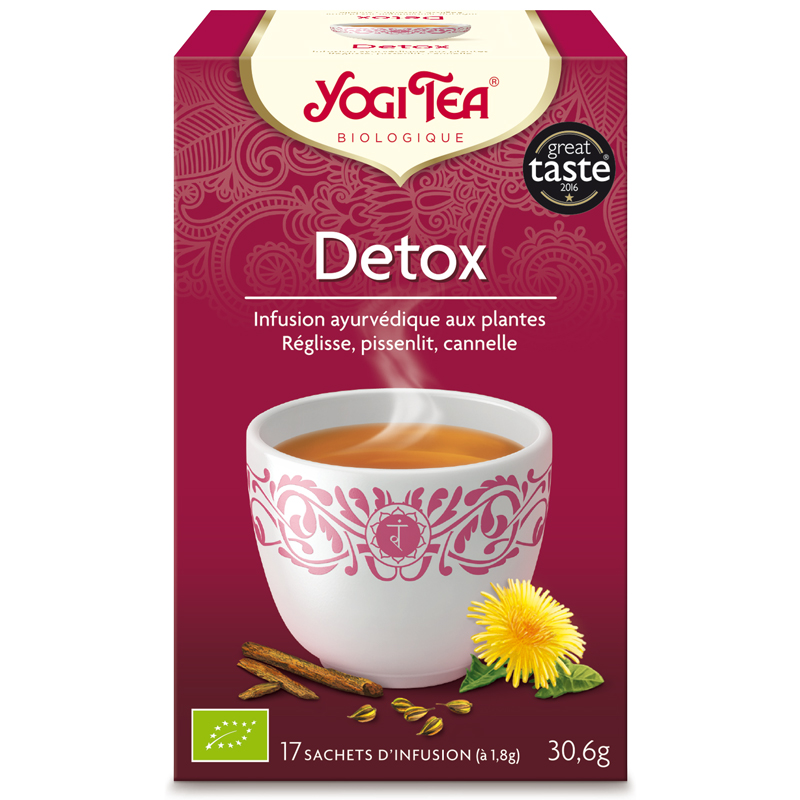 yogi tea tisane detox infusion ayurv dique 17 infusettes en pharmacie. Black Bedroom Furniture Sets. Home Design Ideas