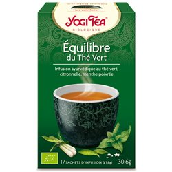 Yogi Tea Thé équilibre Thé vert Infusion Ayurvédique 17 Sachets