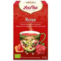 Yogi Tea Thé tao tea rose Infusion Ayurvédique 17 Sachets