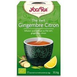 Yogi Tea Thé vert gingembre citron Infusion Ayurvédique 17 infusettes