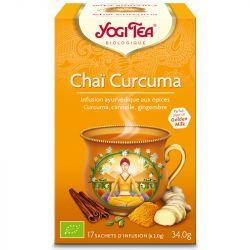 Yogi Tea curcuma chai Infusion Ayurvédique 17 infusettes