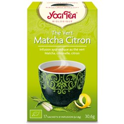 Yogi Tea Thé vert matcha citron Infusion Ayurvédique 17 infusettes