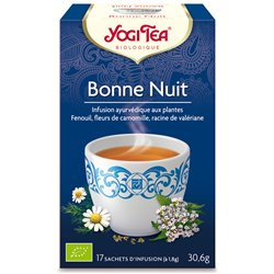 Yogi Tea Tisane bonne nuit Infusion Ayurvédique 17 Sachets