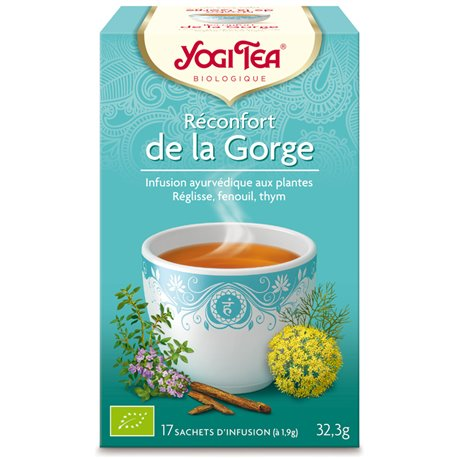 Yogi Tea Tisane réconfort gorge Infusion Ayurvédique 17 Sachets