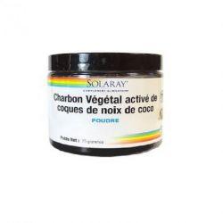 SOLARAY Charbon Végétal Activé de coques de Noix de Coco 75g