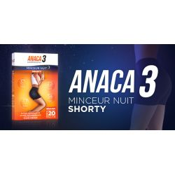 ANACA3 Shorty Nuit Diffusion actif amincissant silhouette