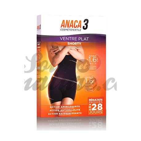 ANACA3 Shorty Ventre plat Diffusion actif amincissant