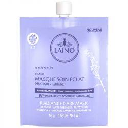 LAINO Masque soin éclat Visage à l'argile blanche 1 sachet