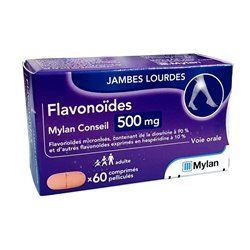 Fraction flavonoique purifiée 500mg Mylan 60 comprimés