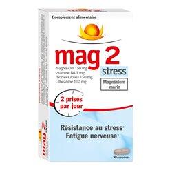 MAG 2 Stress Mg Rhodiola L-théanine 30 comprimés