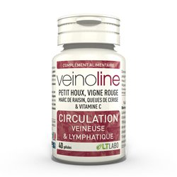 VeinoLine Circulation veineuse & lymphatique 40 gélules