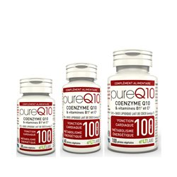 PURE Q10 Coenzyme Q10 + Vitamines anti-oxydant gélules