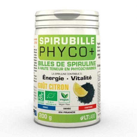 SPIRUBILLE Bio billes de Spiruline Vegan 200g