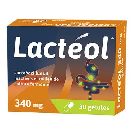 LACTEOL 340mg 10-30 CAPSULES ANTI DIARRHEA