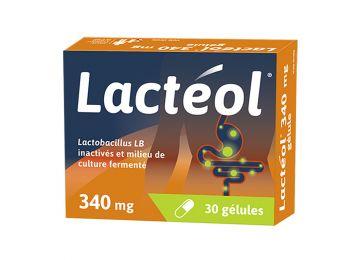 LACTEOL 340mg 10 30 CAPSULES ANTI DIARRHEA