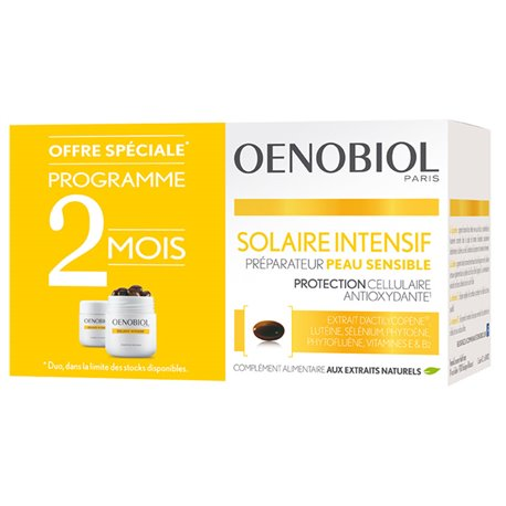 Oenobiol Solaire Intensive Skin Nutriprotection Claire 2x30 Capsules