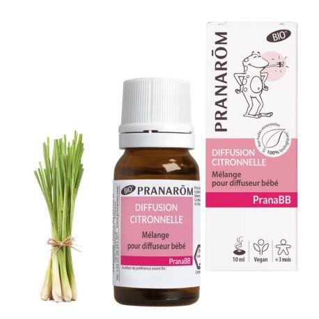 PRANABB Mélange pour diffuseur BIO Moustiques PRANAROM 10 ml