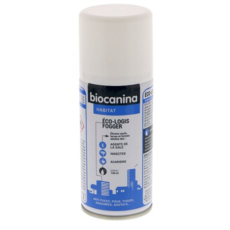 BIOCANINA ECO-LOGIS FOGGER INSECTICIDE puces tiques cafards 100ML