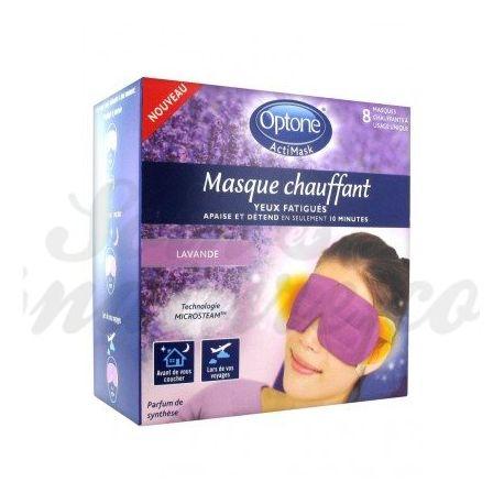 Optone Actimask 8 أقنعة العيون المتعبة ساخنة رائحة اللافندر