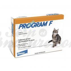 PROGRAM F anti-puces Chat 6 ampoules buvables