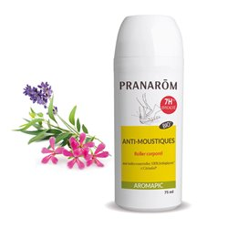 NATURAL Mosquito Repellent AROMAPIC ROLLER PRANAROM 75G