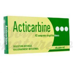 ACTICARBINE الكربون المنشط النفخ 42 أقراص