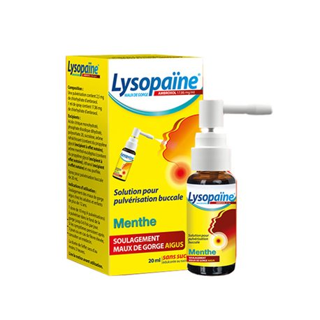 LYSOPAINE Ambroksol COLUTÓRIO 20ML SPRAY