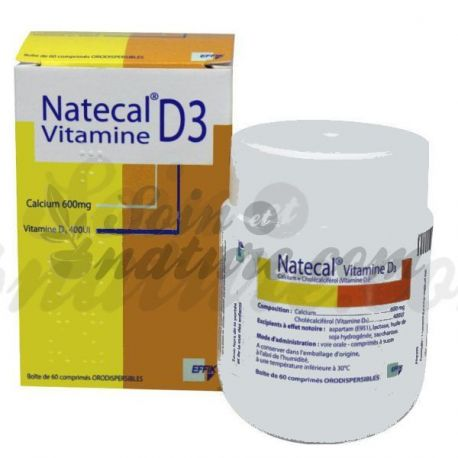 NATECAL CALCIUM VITAMINE D3 600MG/400UI Comprimé orodispersible