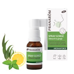 AROMAFORCE Spray Gorge Collutoire BIO PRANAROM 15 ml