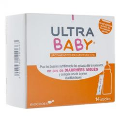 Ultra Baby ultra levure bébé Diarrhéees Colique 14 sticks