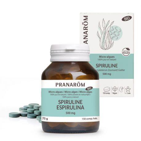 Micro algas Spirulina 200 comprimidos de 500 mg PRANAROM