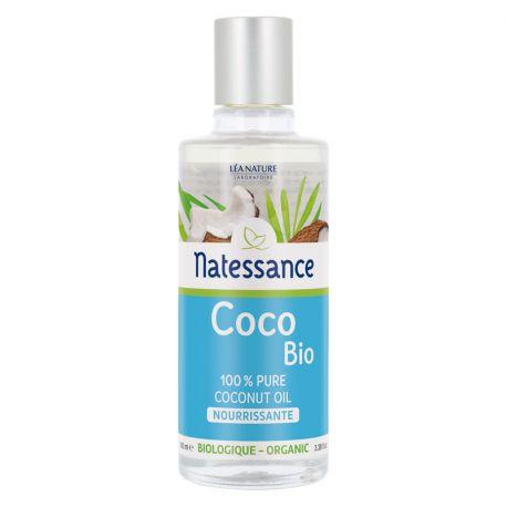 NATESSANCE Huile COCO BIO 100% PURE 100ML