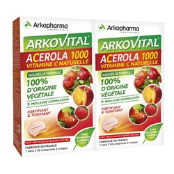 ACEROLA 1000 VIT C NATURAL 30 TABLETAS LOT DE 2 Arkopharma