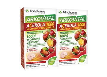 acerola 1000  ACEROLA 1000 VIT C NATURAL 30 TABLETS LOT OF 2 Arkopharma sale in ...