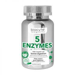 BIOCYTE Longevity 5 Enzymes 60 gélules