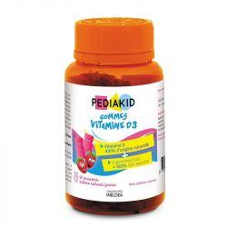PEDIAKID Vitamin D3 Cholecalciferol 60 Radiergummis
