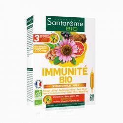 SANTAROME BIO immunité bio 20 ampoules 10ml