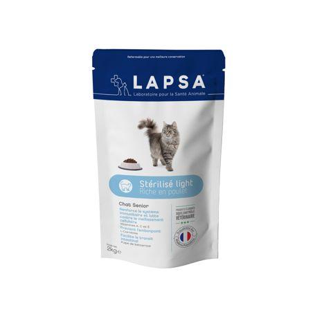 Lapsa Chat Senior Stérilisé Light Croquette 2 Kg