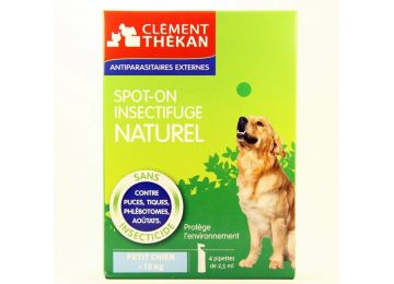 CLEMENT THEKAN INSECTIFUGE NATUREL PETIT CHIEN 4 PIPETTES