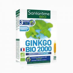 SANTAROME BIO Ginkgo bio 2000 20 ampoules 10ml